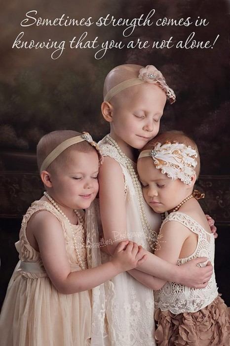 Three Little Girls Suffering Cancer Come Together For Touching Photograph